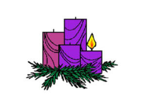four illustrated candles for advent