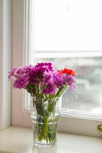Flowers inside the Rainbow Room