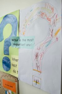 childrens artwork in the Rainbow Room, Who is the most important one?
