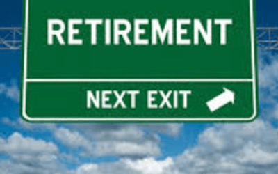 Retirement – next exit – Weekly Newsletter for Friday 13 September.